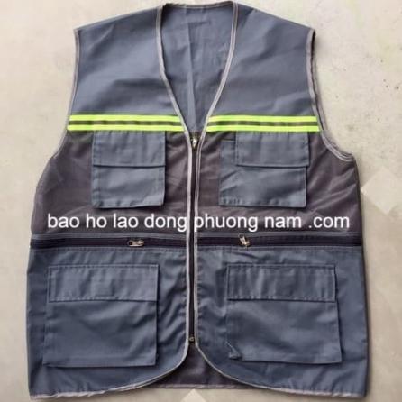 Áo gile phản quang 6 túi