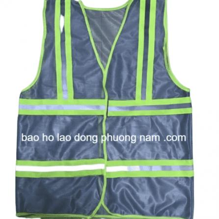 Áo lưới xám phản quang xanh chuối