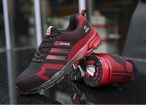 giày bảo hộ aolang đỏ đen