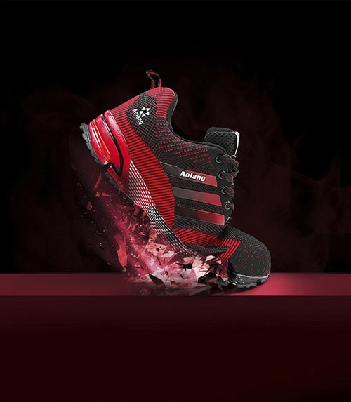 Giày bảo hộ aloang thể thao đỏ