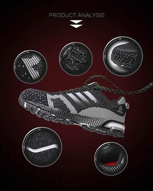 Giày bảo hộ thể thao aolang trắng đen