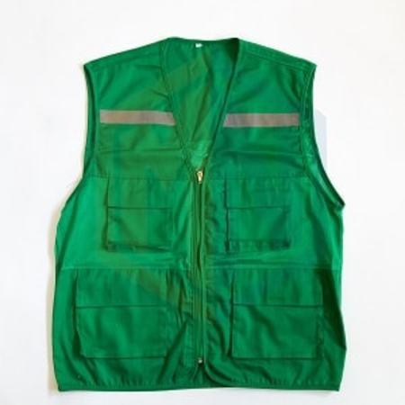 Áo gile phản quang VN xanh lá
