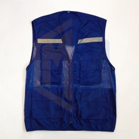 Áo gile phản quang VN xanh bích